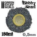 Feiner Modellbau-Sand 180ml - Grau