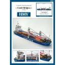 Container Motorfrachtschiff Conti Belgica (1978)  HMV Modellbaubogen 3366